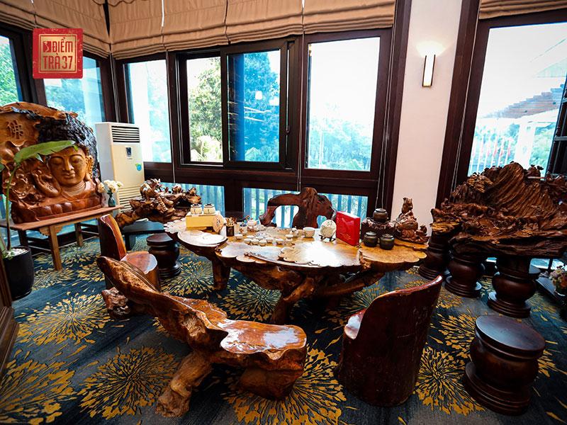 Không gian thưởng trà tại nhà hàng NCC - Trung tâm Hội nghị Quốc gia